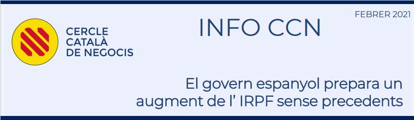 El Govern espanyol prepara un augment de l'IRPF sense precedents